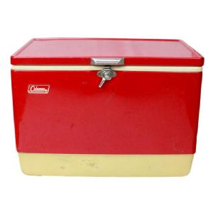 【Used】 COLEMAN VINTAGE COOLER [86s RED]